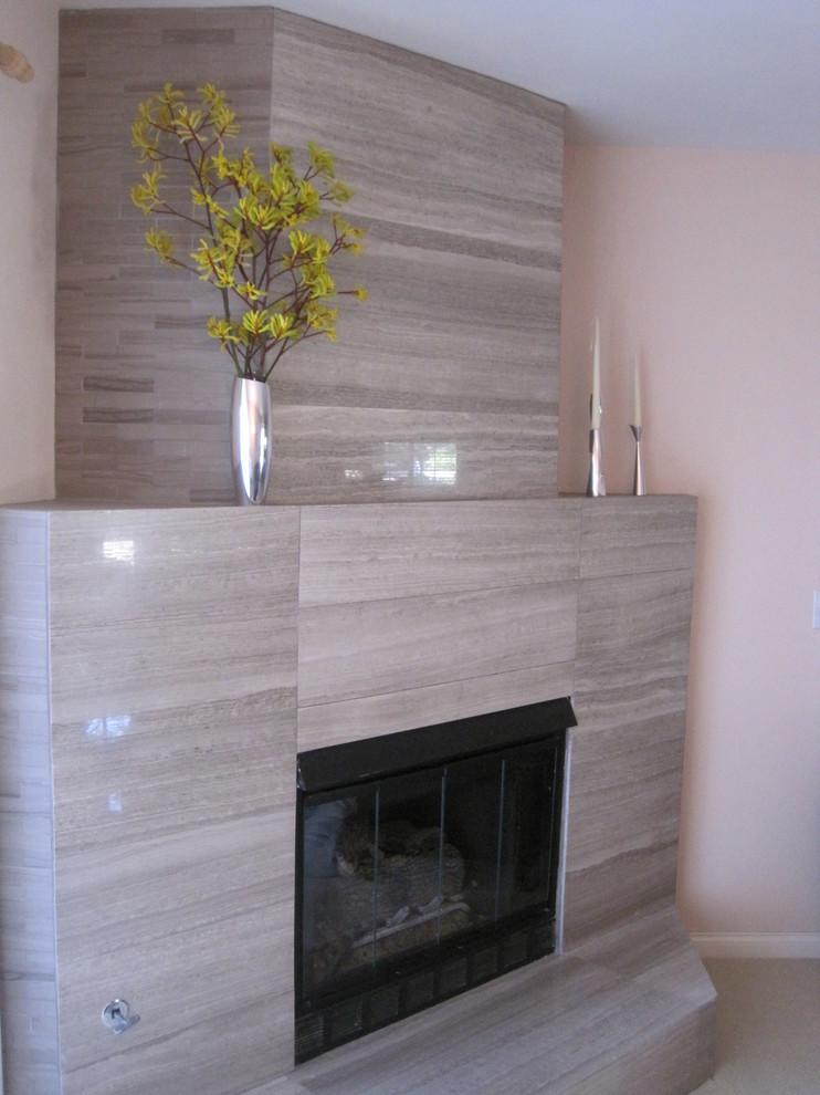 Living room - modern living room idea in San Diego