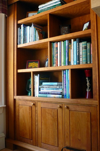 Fireplace Surround Cherry Bookcases Built In