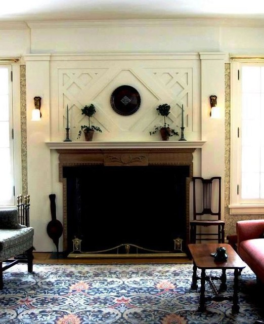 Fireplace surround traditional-living-room