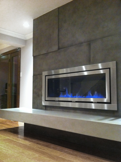Fireplace Surround Contemporary Living Room New York