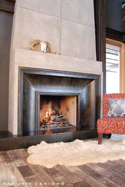 Fireplace Surrounds eclectic-indoor-fireplaces