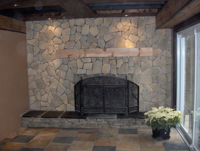 Toronto Stone Veneer Ideas traditional-living-room