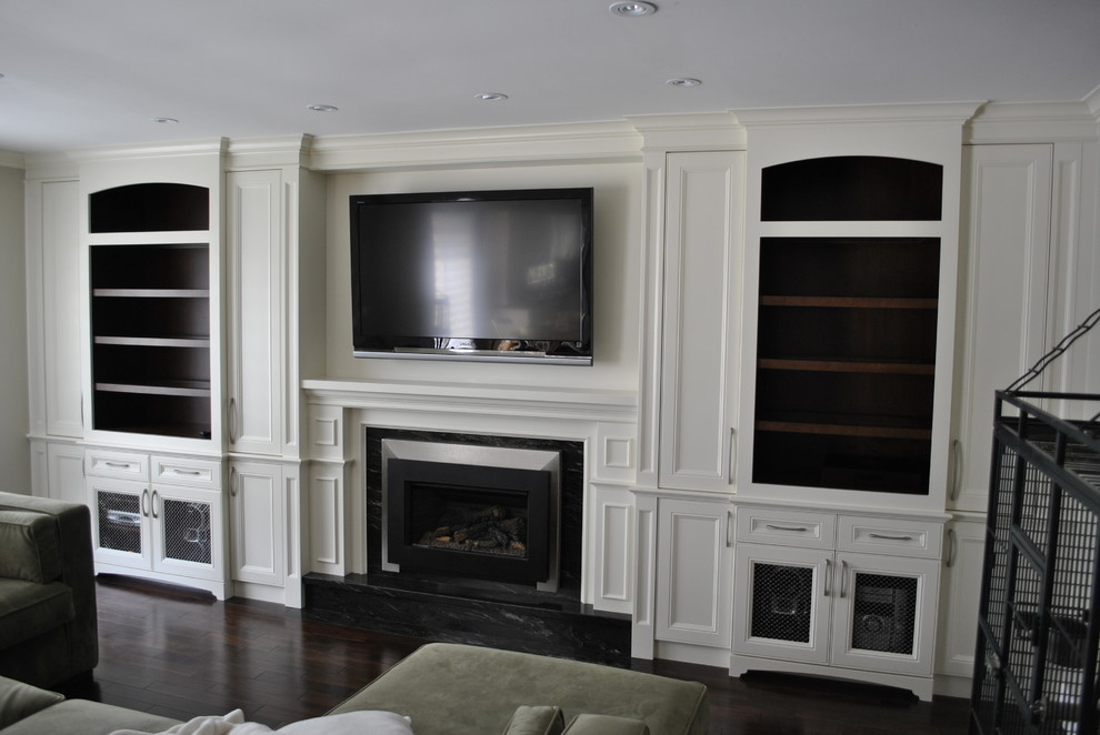 Fireplace Tv Wall Unit Traditional Living Room Toronto By Spaces Inc