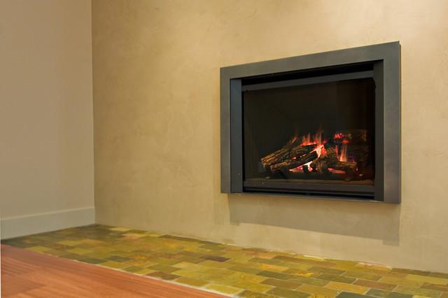 Fireplace venetian plaster