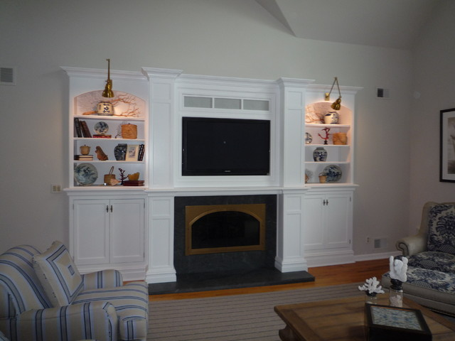 Fireplace Wall Redo Traditional Living Room Other