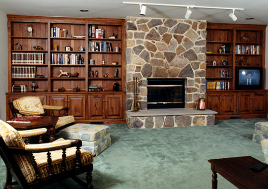 fireplace wall unit pine