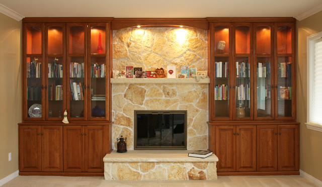 Fireplace Walls Traditional Living Room Orange