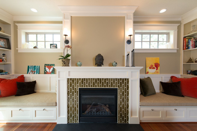 Fireplace Windows And Window Seat