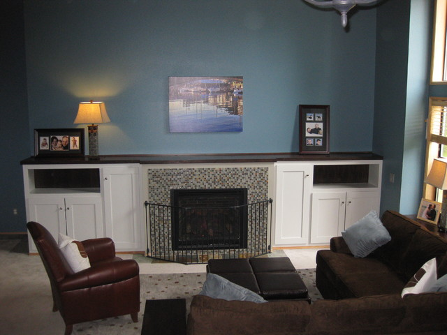 Fireplace With Bookcases Modern Living Room Other Metro By Greene Des