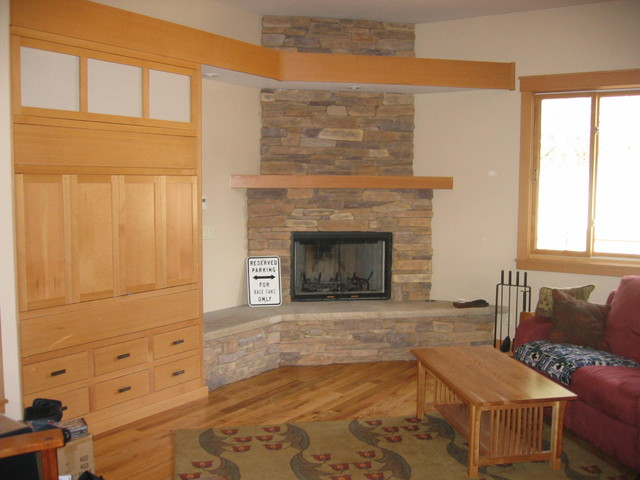 Fireplace With Entertainment Center Traditional Living