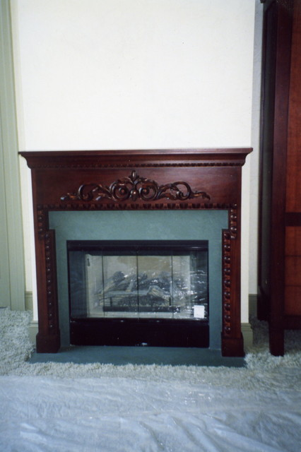 Fireplaces and Mantels traditional-living-room