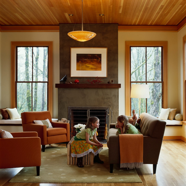 Fireplaces Contemporary Living Room Portland By