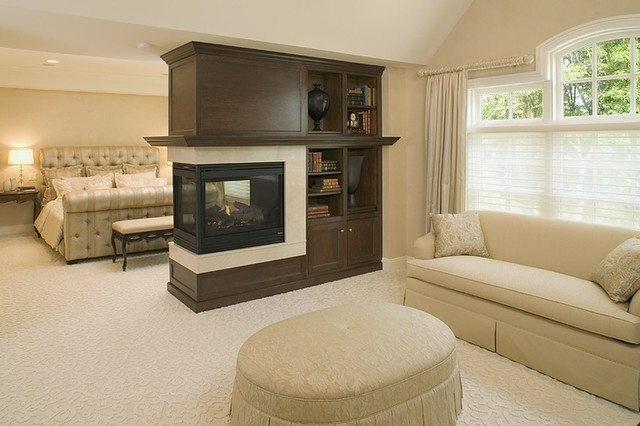 Fireplaces Traditional Living Room New York By