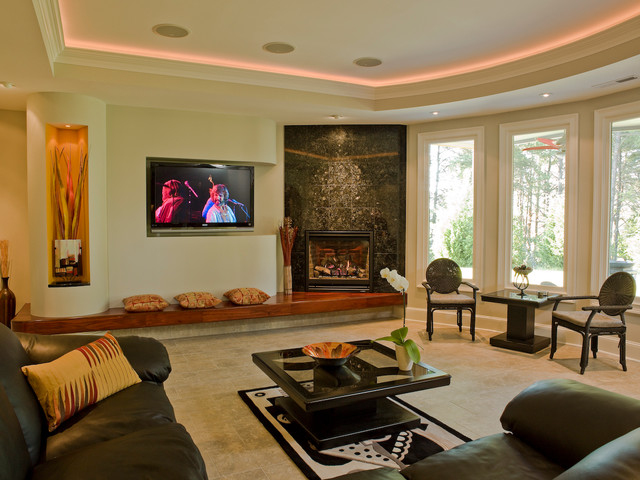 Fireplaces modern living room atlanta by for Living room atlanta