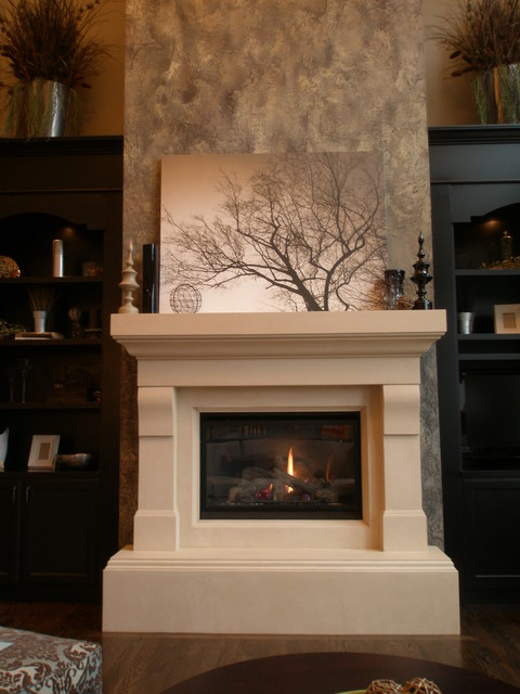 Fireplaces Transitional Living Room Other Metro By Lyonstone Designs Inc