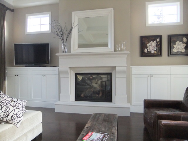 Fireplaces Transitional Living Room Vancouver By