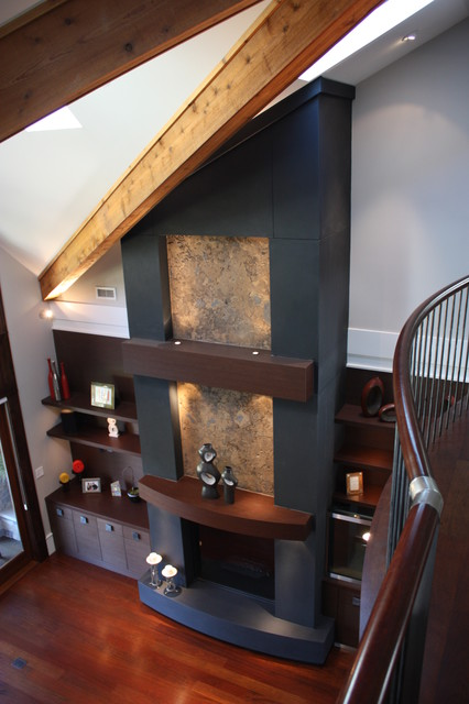 Fireplaces transitional-living-room