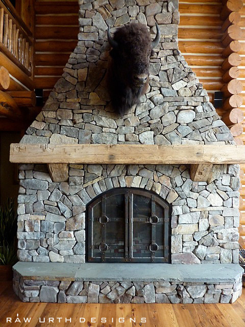 Fireplaces Rustic Living Room Other Metro By Raw