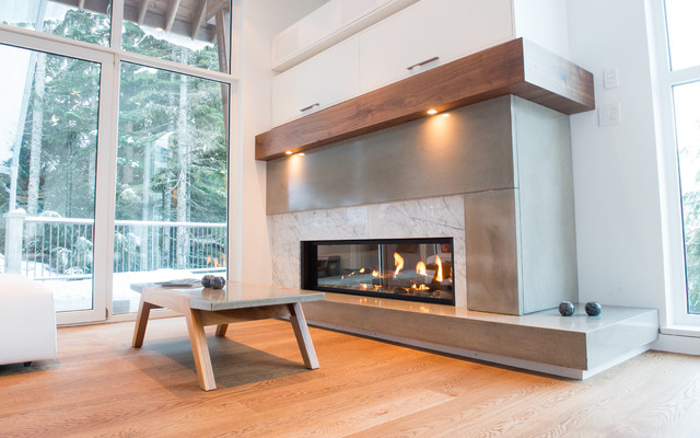 Fireplaces contemporary living room vancouver by for Modern living room furniture vancouver