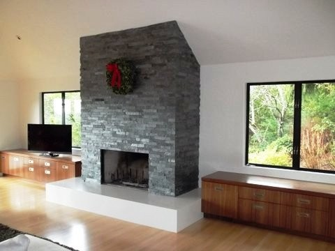fireplaces contemporary-living-room