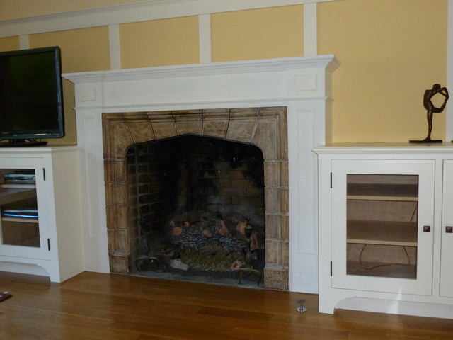Fireplaces Traditional Living Room San Francisco By Tricia George Decorative Artist