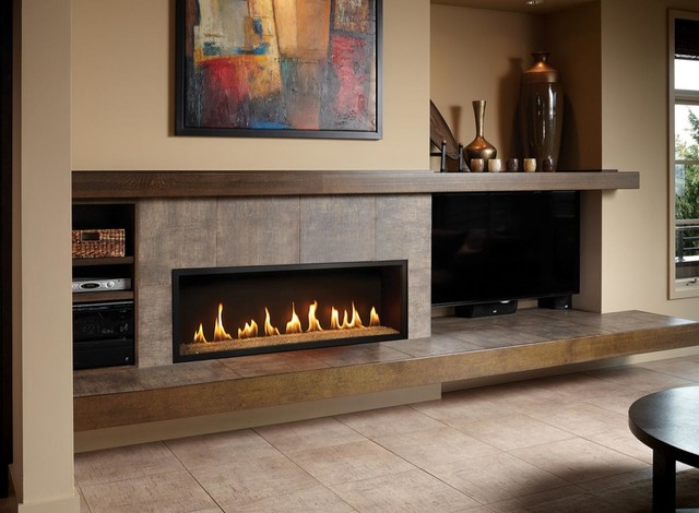 Fpx 4415 Ho Greensmart Linear Gas Fireplace Contemporary Indoor Fireplaces Seattle By