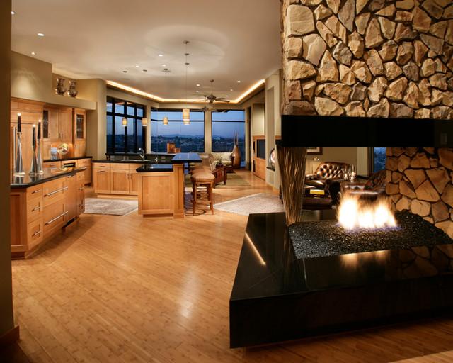 FireRock  Custom Home Warm Modern modern-living-room