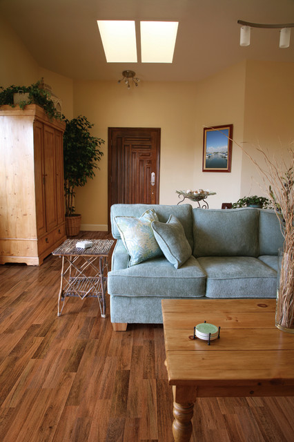 Fireside oak laminate traditional living room by for Living room ideas oak flooring