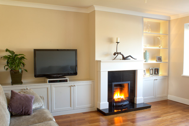 Fitted Sitting Room Units With Built In Led Lights Traditional Living