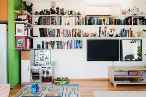 boekenkast om de hoek