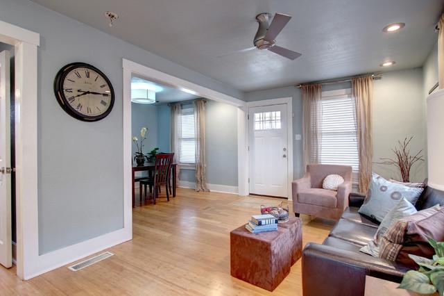 Fix and flip in denver co midcentury living room for The family room denver