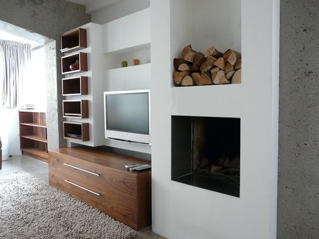 Flat in Amsterdam modern-living-room