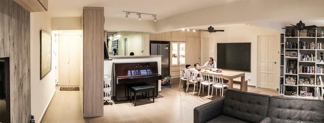 Muji Flat In Bishan Contemporary Living Room