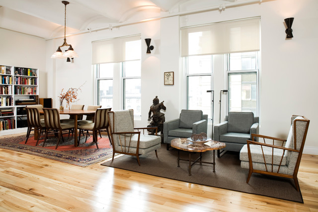 Flatiron Loft Renovation Eclectic Living Room