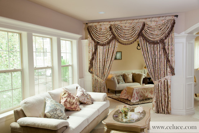 Fleurs Rococo Swag Valance Window Treatment By Traditional Living Room Seattle