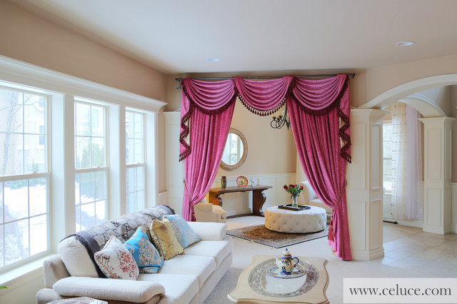 swag valances for living room flip pole swag valance curtains traditional living 21667