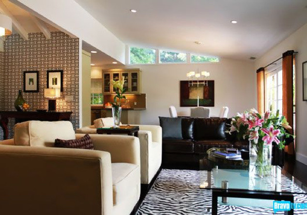 Flipping Out / Jeff Lewis Design contemporary-living-room