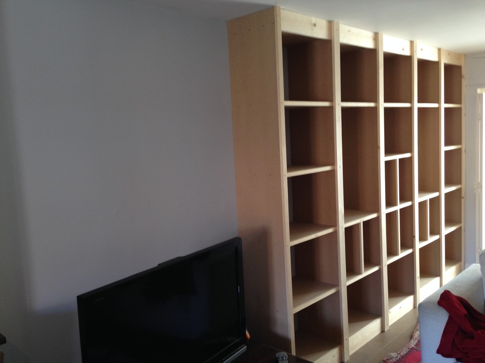 Floor To Ceiling Bookcase Display Cabinet Modern Living Room Wiltshire By Mbh Carpentry And Joinery Ltd Houzz