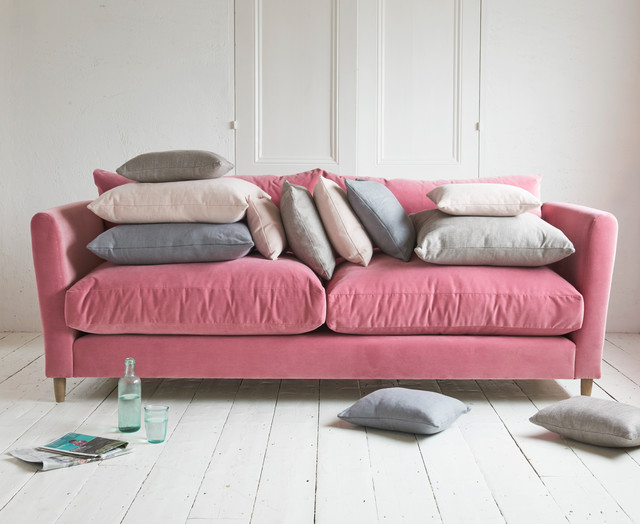 Flopster sofa in Dusty Rose clever velvet - Contemporary - Living ...