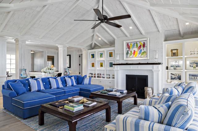 Florida Beach Cottage - Beach Style - Living Room - Miami ...