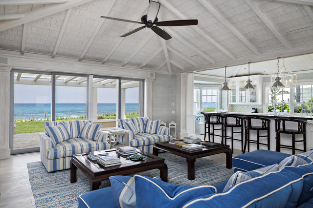 Florida beach cottage beach style living room miami for Beach house style