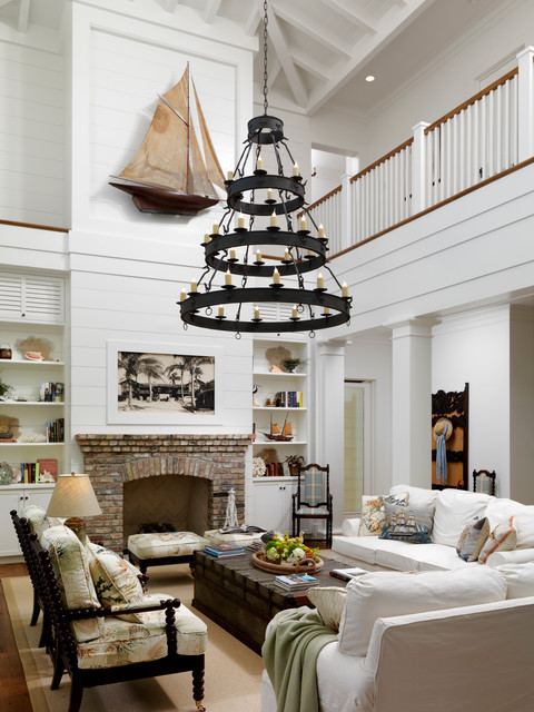 Florida Beach Home Traditional Living Room Orlando