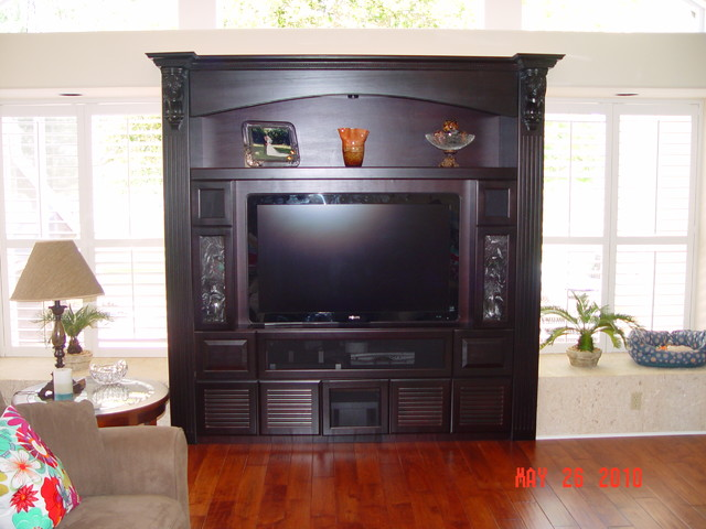 florida home theater cabinets living room orlando by