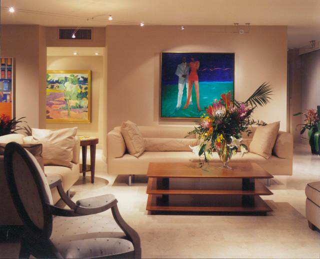Florida modern condo with contemporary art modern - Contemporary artwork for living room ...