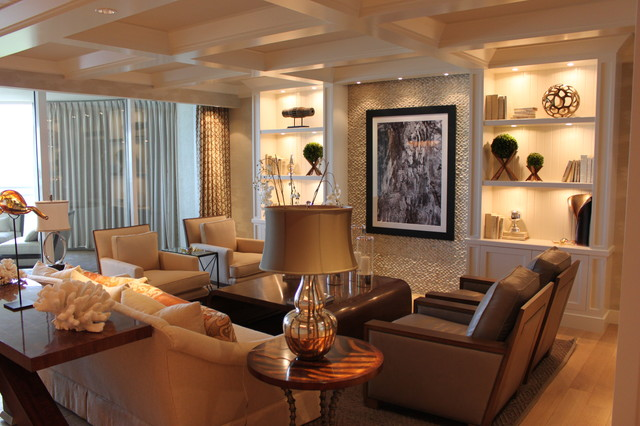 Florida Residence Beach Style Living Room Other By W Design Interiors