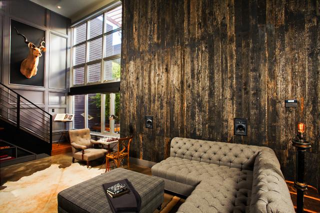 Flow Modern Interior Design Industrial Living Room