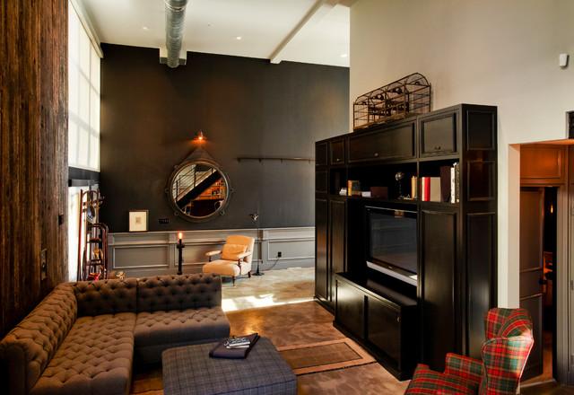 Flow Modern Interior Design Industrial Living Room Part 25