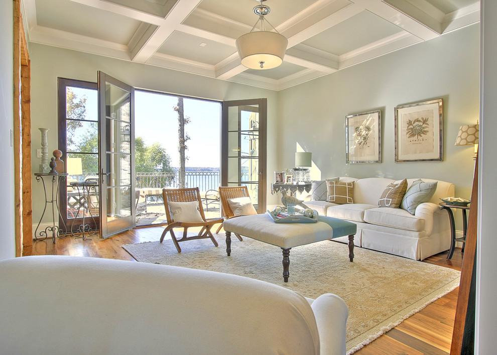 Elegant living room photo in Charlotte