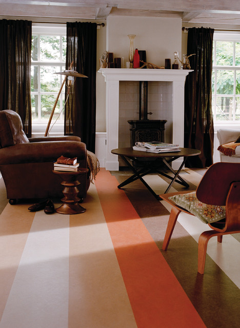 Forbo Marmoleum Click Natural Linoleum Flooring Traditional Living Room Chicago By
