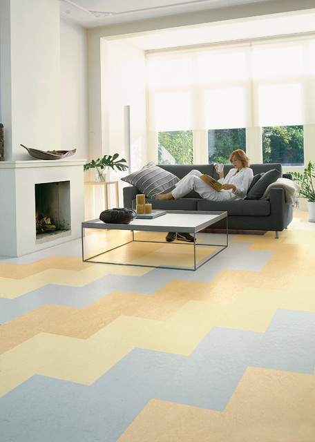 forbo marmoleum click natural linoleum flooring modern living room chicago by. Black Bedroom Furniture Sets. Home Design Ideas